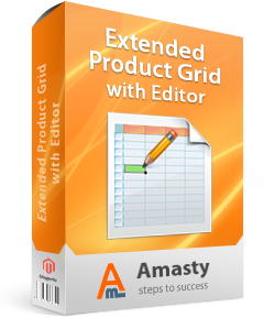 AMASTY Extended Product Grid with Editor for Magento.
